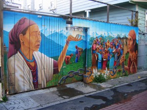 An example of a Precita Eyes mural in Balmy Alley - WIKIPEDIA