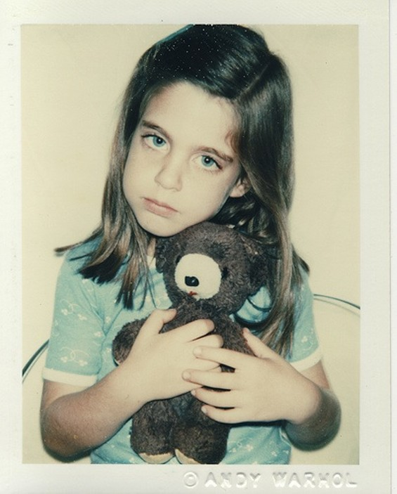 Andy Warhol's Unidentified girl (blue t-shirt with teddy bear), 9/1979 - THE ANDY WARHOL CENTER FOR THE VISUAL ARTS