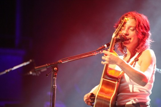 Ani DiFranco at the Fillmore last night. - KEVIN HENDERSON