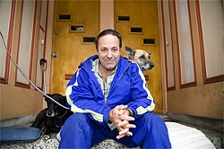 JAKE POEHLS - Animal lover and former campaign spokesperson Rex Reginald with dogs Paris (left) and Jenny From the Block.