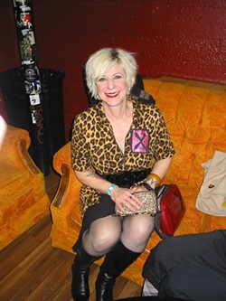 AMES - Annie Whiteside, backstage at X in 2008.