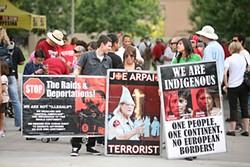 WILLIAM WESTFALL - April 25 protest at Arizona State University.