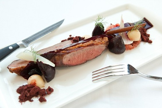 AQ's duck with beets. - MELISSA BARNES