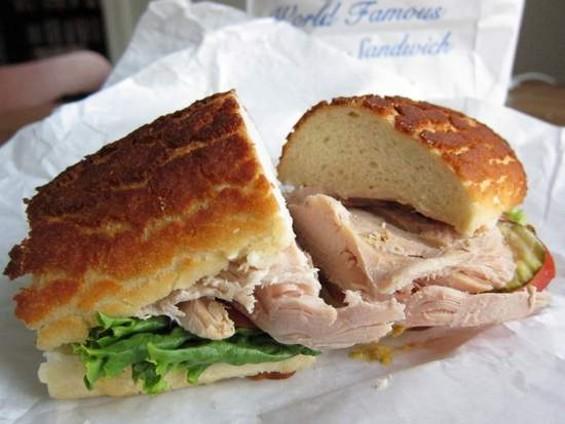 Arguello Market's roast turkey sandwich. - JONATHAN KAUFFMAN