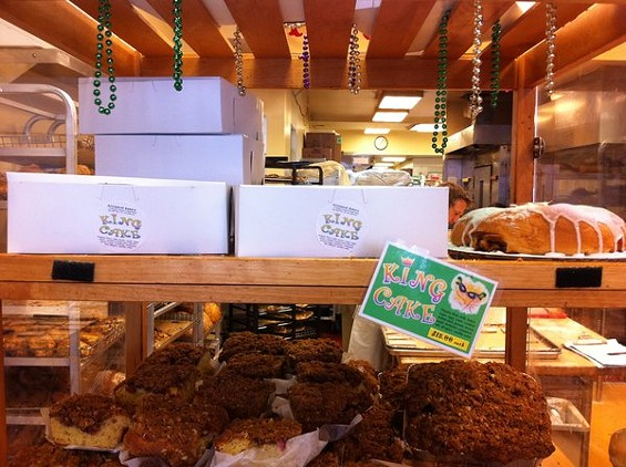 Arizmendi Inner Sunset will have a limited number of king cakes for sale tomorrow, Fat Tuesday. - VALERIE LUU