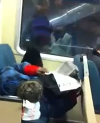 At least someone is comfortable on BART - YOUTUBE USER SSWIFEATURED