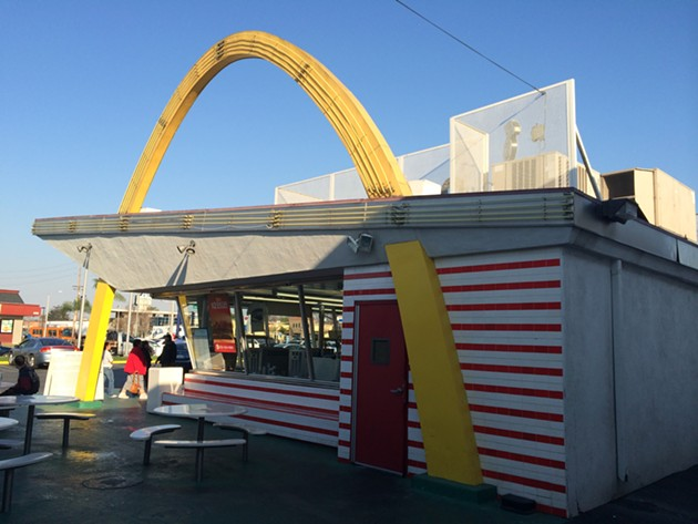 At the oldest extant McDonalds, in Downey, California. - PETER LAWRENCE KANE