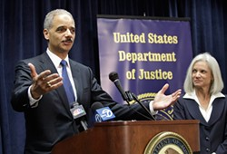 ASSOCIATED PRESS - Attorney General Eric Holder and local U.S. Attorney Melinda Haag say their stance is clear: Pot is illegal and can be prosecuted at any time.