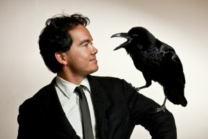 "Author Tony Lee Moral and the star of ""The Birds"""