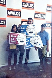 Avalos tells Run, Ed, Run where they can stick their campaign signs - COURTESY OF AVALOS FOR MAYOR CAMPAIGN