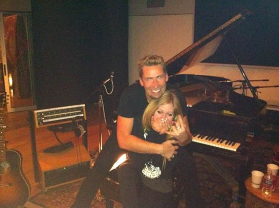Avril and Chad, via Avril's Twitter