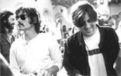 Backstage pass: Cameron Crowe, right, directs Billy Crudup on the set of Almost Famous