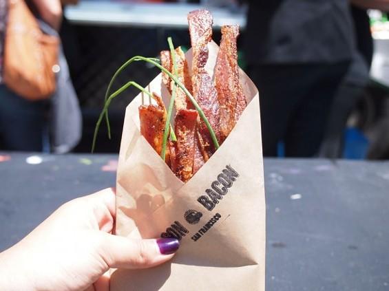 Bacon Bacon's bacon bouquet. - COUTUREAUCHOCOLAT.COM