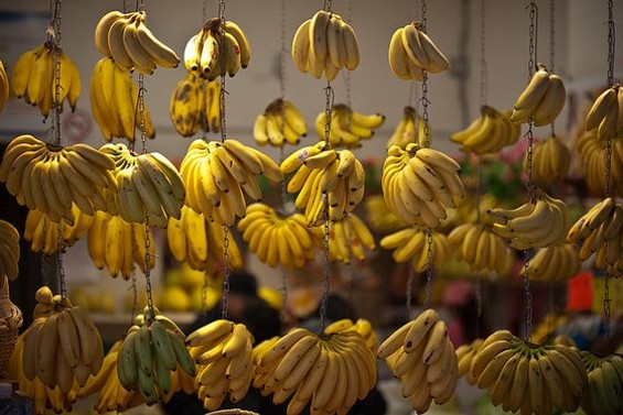Banana display in Chinatown. - JEREMY BROOKS/SF WEEKLY FLICKR POOL