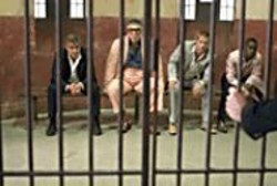 BOB  MARSHAK - Bar Code: George Clooney, Elliott Gould, - Brad Pitt, and Don Cheadle are thick as - thieves.
