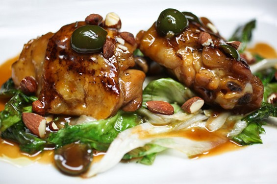Barbacco's chicken thighs, $13. - KEVIN HENDERSON