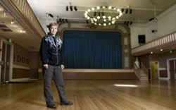 EARTHA GOODWIN - Barbara Ockel, interim managing director of Bayview Opera House Inc., on the building's restored floor.