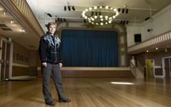 EARTHA GOODWIN - Barbara Ockel, interim managing director of Bayview Opera House Inc., on the building's restored floor.