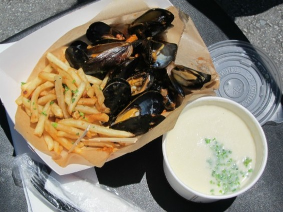 Basque moules frites and cauliflower soup from Fins on the Hoof - LUIS CHONG