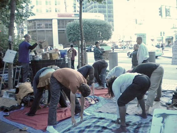 Because yoga will definitely put an end to corporate greed - ALAN SCHERSTUHL