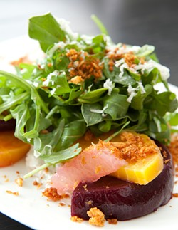 MELISSA BARNES - Beets, arugula, and goat cheese get a kick out of horseradish.