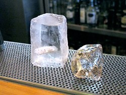 LOU BUSTAMANTE - Before and after: The ice cubes used for shaking up a proper fizz.
