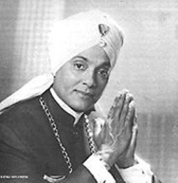 "Bejeweled Hammond B-3 organist Korla Pandit surfaces in the TV portion of ""Exotica Music Films."""