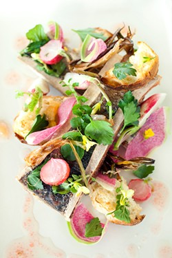 LARA HATA - Beneath radishes, Meyer lemon, and Italian parsley lies the marrow.