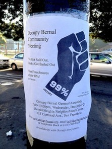 Bernal Heights residents want homes, not tents - COURTESY OF THE BADASS BERNALWOOD PRESS
