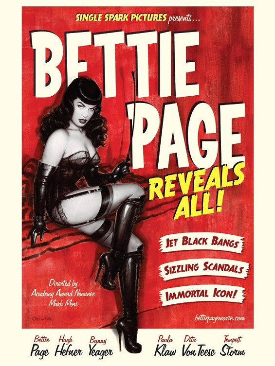 Bettie Page Reveals All: December 6 at the Opera Plaza.