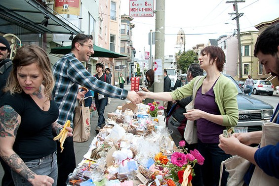 Bi-Rite Market was one of dozens of nationwide locations of Saturday's Bakesale for Japan. - ALBERT LAW/PORKBELLYSTUDIO.COM