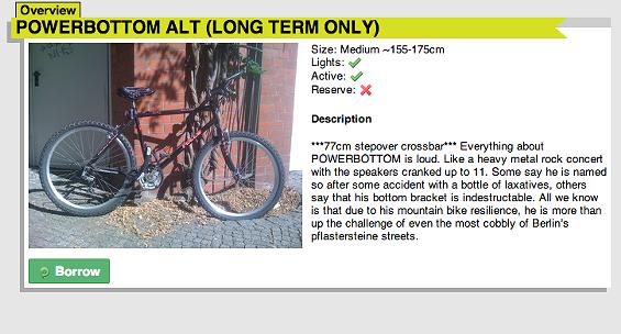 BikeSurf bikes get whimsical names via their previous owners. - BIKESURF.ORG