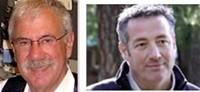 Bill Schechner, left, and John Lobertini were, literally, schooled by Judge Marilyn Hall Patel