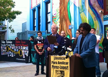 Amilcar Perez-Lopez: Mission District Residents Protest Police After Shooting of Young Immigrant Man