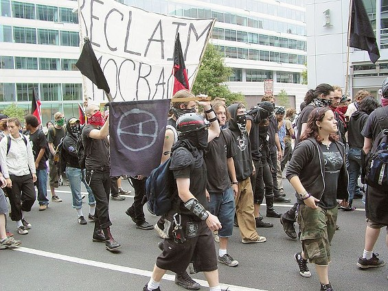 Black Bloc anarchists, 2005