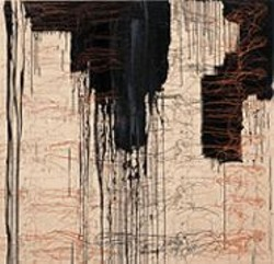 Black Series -- Coulures Noires by Ghada Amer.