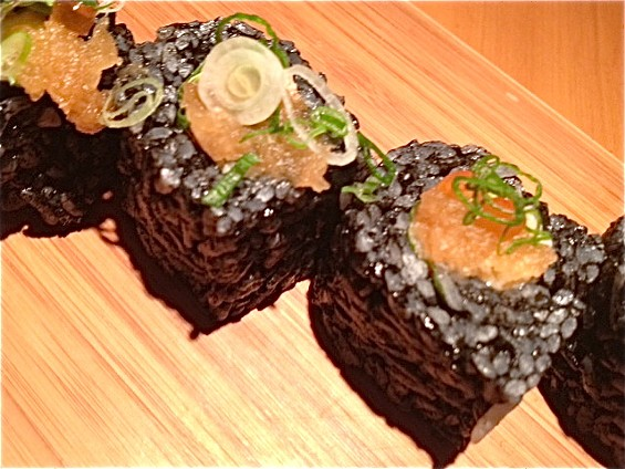Blowfish, Sushi To Die For's black Beauty Roll. - TAMARA PALMER