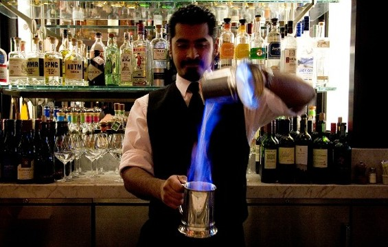 Blue Blazer at Spruce is def a conversation starter. - THE DAPPER DINER