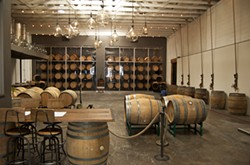 Bluxome Street Winery's tasting room pays tribute to SOMA's winery-rich past.