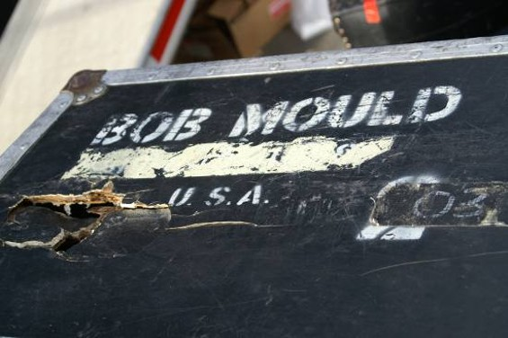 Bob Mould's gear trunk - JEANNÉ ELLENBY