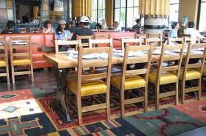 Bocanova's lofty, color-splashed dining room. - M. BRODY