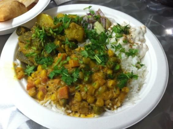 Bombay Bazar's lunch plate, $5.95. - JONATHAN KAUFFMAN