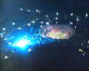 Boom! There goes your stadium. - ESPN TV BROADCAST