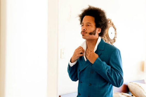 Boots Riley, suiting up.