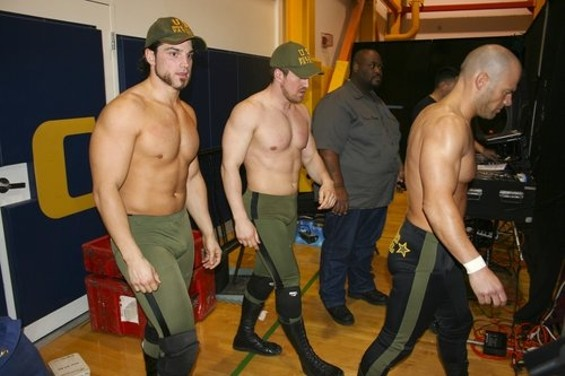 Border patrol agents ready for a rumble.
