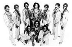 Born to Perform: Roger (standing, center) and Larry - (second from right) with the band during Zapp's - heyday.