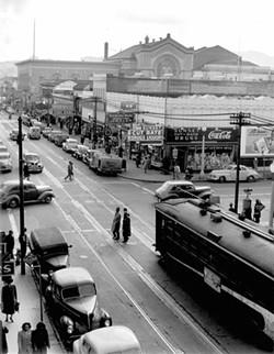 Boy & Wagon, 1948