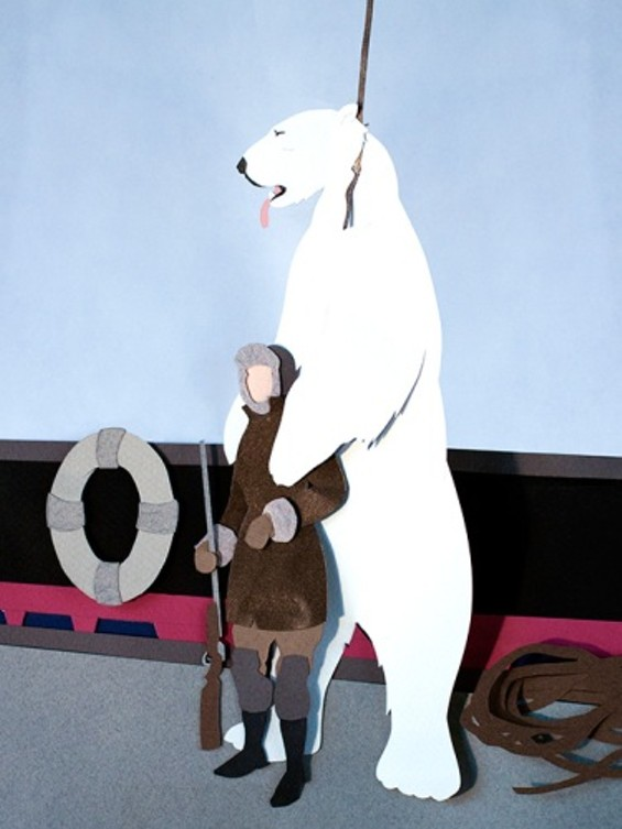 Boyd is rumored to have killed 19 polar bears in one day. - ARTIST MAËLLE DOLIVEUX
