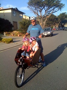 Bradley Woehl and his progeny on the go