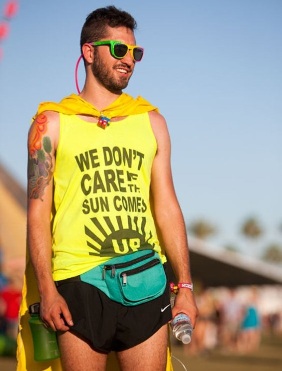 Braving 100-degree heat at Coachella. - COLIN YOUNG-WOLFF
